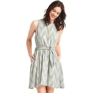 Gap Print Tie Fit and Flare Dress
